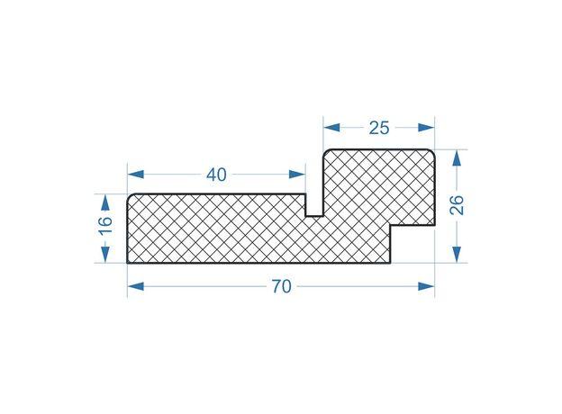 Коробка дверная с упл. light ecocraft дуб мокко Green Line 2080х69х26 мм на 40 мм